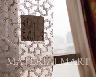 Sheer Fabric, JIM Thompson, Geja Pattern
