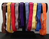 Adjustable elastic headbands - sets of 3 or 6 - over 60 colors - fits up to 21 inch head -- baby, toddler, child, or adult