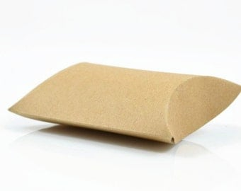 KRAFT PILLOW BOX (Set of 5 Boxes) -  Kraft Pillow Box (12.5cm x 7.5cm x 2cm)