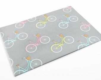BICYCLE WRAPPING PAPER - Vintage Bicycles With Basket Folded Wrapping Paper (49cm x 68cm)