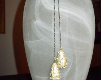 Vintage Tear Drop Rhinestone Lariat Necklace