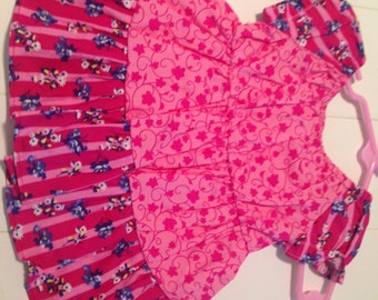 Handmade Pink Peasant Dress size 3 Months sale