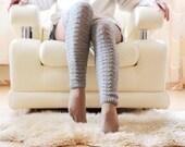 Grey knitting Long Socks over the knee Boot long Socks fashion Long knitting wool Leg warmers Socks Knee high socks-knitting Christmas sock - JolantaKnit