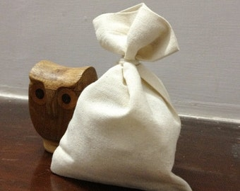 25 Bulk Premium Organic Cotton Muslin Bags 2.75 x 4 inches natural, packaging, gift bags, party favor bags, baby, wedding, bridal shower