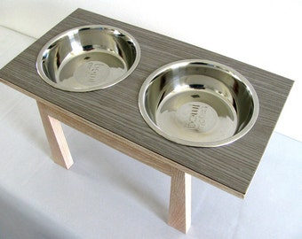 Handmade Mid Century Modern Style Pet Feeder, Elevated Pet Diner, Dog Feeder, Cat Feeder, Handmade Wood Pet Feeder, Dog Bowl, Pet Bowl