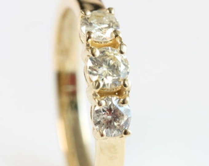 0.60 ct Stunning Diamond Ring, Engagement Solitaire 14K Yellow Gold Ring, Women Jewelry, Size Selectable, wedding band