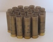 "Empty Shotgun Shells 25 Lot Gold with Gold Base Nitro 2.75"" 12 Gauge"