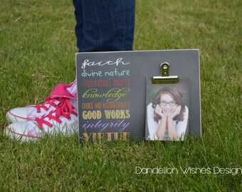 LDS Young Women Values Photo Frame, Gift For Girls, Birthday Gift For Teenage Girls, Gift Ideas For Girls, YW Gift Idea, Girls Camp Idea