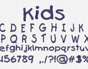 Kids Font Embroidery Design Now Come with .BX Ready Font!