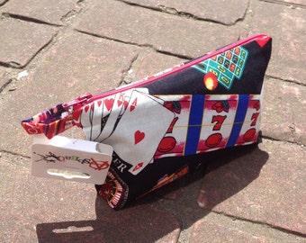 Handmade Fully lined make up bag *Casino*