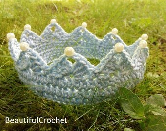 baby tiara crown in every colour and you can order it in every size for the same price, Häkelkrone