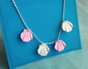 Origami shells necklace