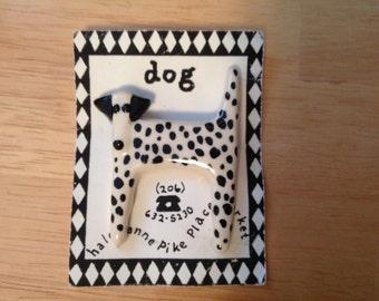 Adorable DALMATION Dog brooch - Ceramic