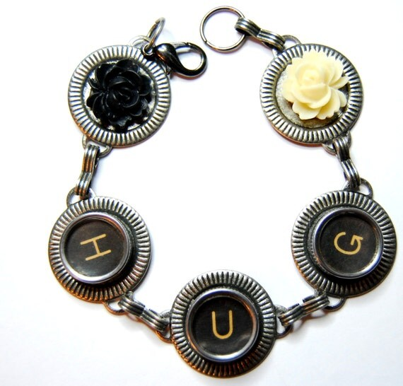 Vintage Typewriter Key Bracelet 77