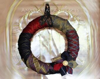 Necktie Wreath - Everyday Wreath - All Occasion Wreath