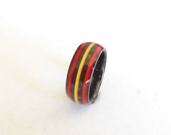 real carbon fiber ring spanish colors