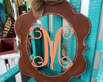 Monogram Door Hanger, Graduation Gift, Wedding Gift, Baby Shower Gift