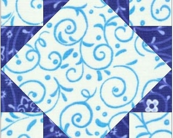 Art Square Paper Piece Foundation Quilting Block Pattern
