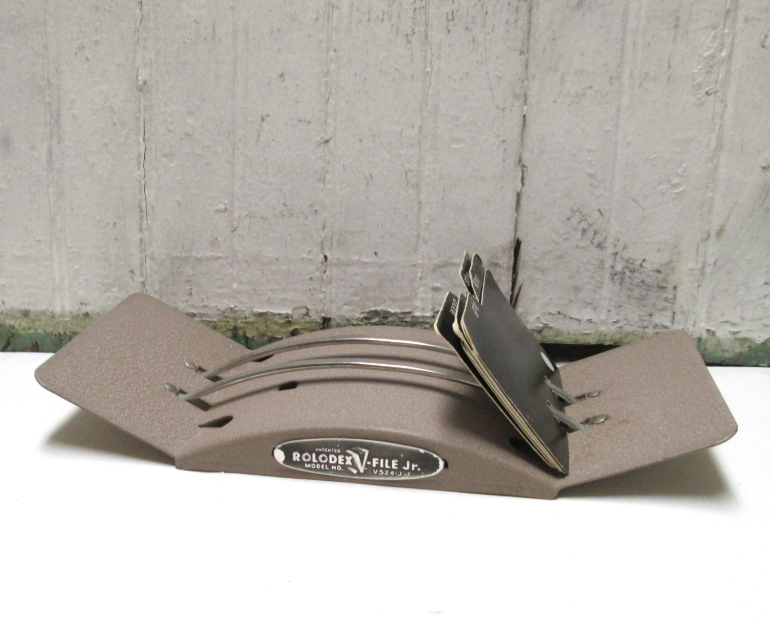 Rolodex Metal Card File Industrial Vintage Contact Organizer