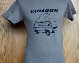 1980 - 1985 Volkswagen Westfalia Campmobile Vanagon Logo T Shirt - VW Bus Transporter Camper Van
