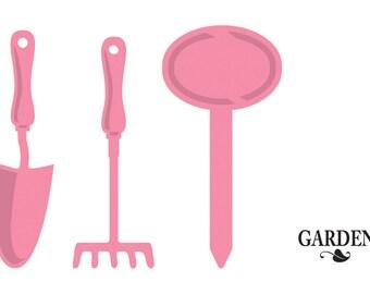 Marianne Designs Collectables Dies & Stamp Set - Garden, COL1346 ~