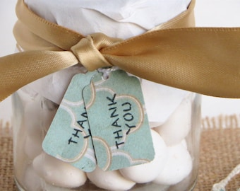 Small thank you tags, Wedding thank you tags, Baby Shower Thank you tags, Small thank you gift tags