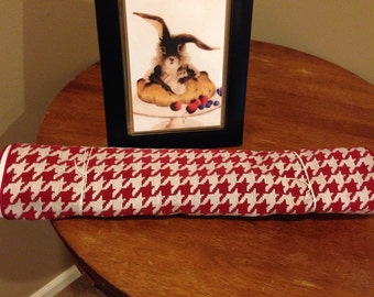 Red Houndstooth Table Runner