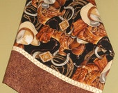 Western Cowboy Pillow Case with Barbed Wire Accent strip for your Cowboy!
