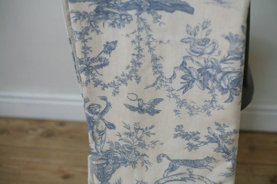 French Toile De Jouy Curtains Blue Vintage Curtains By Townlane