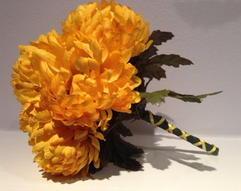 Yellow Mums Floral Wedding Bouquet