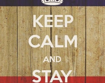 Keep Calm and Stay Legendary - Plywood Wood Print Poster Wall Art WP - DF - 5596