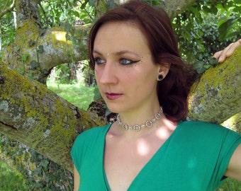 Cracked Freya, rock Crystal Necklace