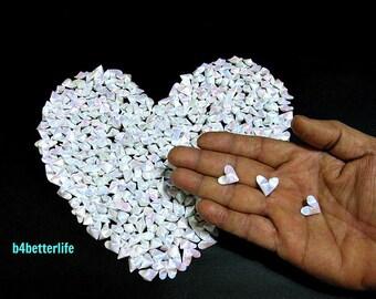 365pcs White Color Mini Size 3D Origami Hearts LOVE. (TX paper series). #FOH-120.