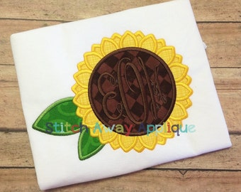 Fall Thanksgiving Sunflower Machine Embroidery Applique Design