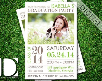 Graduation Party, Invitation, Announcement, High School, College