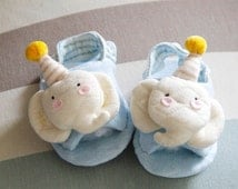 Baby shoes  DIY kit Material Bag elephant Pattern