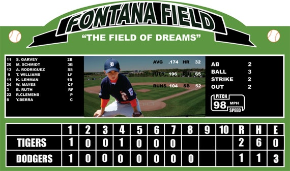 Items similar to personalized baseball scoreboard wall for Baseball scoreboard wall mural