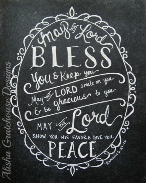May the Lord Print Art Print May The Lord