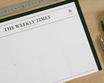 Weekly Times Notepad / Time Table / Check List Memopad / To Do List / 10700627-13215021193840