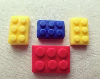 Fondant Edible Lego cake/cupcake toppers
