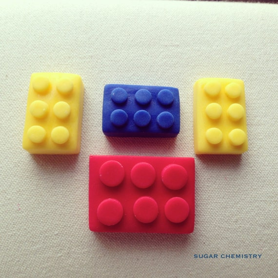 Fondant Edible Lego cake/cupcake toppers by SugarChemistry ...
