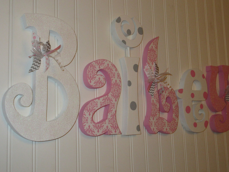 Nursery Decor Hanging Wall Letters : Nursery decor wall letters