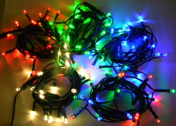 24 or 48 LEDs. 10 or 20 feet. String lights on a