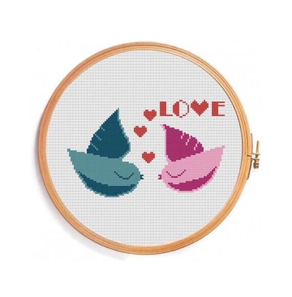 Влюбленные птички схема