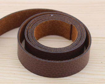 Dark Coffee PU Leather Strap / Belt / Webbing, 1.6mm Thickness * 2cm / 0.8 inch Width *100cm / 40 inch Length #549