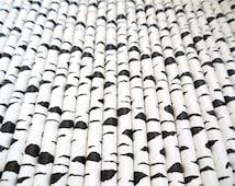 Birch or Zebra Print Paper Straws (Pack of 25 or 50 Straws) Birch Straws - Black and White Party
