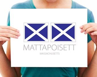 Mattapoisett, Massachusetts, Nautical Flag Art Print