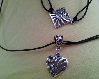 Gothic Heart Necklace and Bracelet Kολιε γκοθικ και βραχιολι