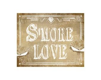 PRINTABLE SMORE Wedding sign - S'more Love - DIY Printable signage