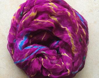 Multi-Colored Sheer Silk Shawl/Scarf